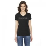 Women's American Apparel Tri-Blend T-Shirt - Black